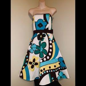 NWT B.Darlin Beautiful floral trumpet sailor dress